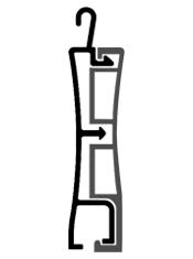 disegno tecnico tapparelle in alluminio Baby reverso