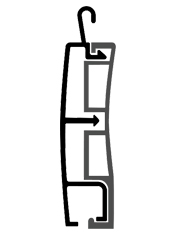 disegno tecnico tapparelle in alluminio Baby