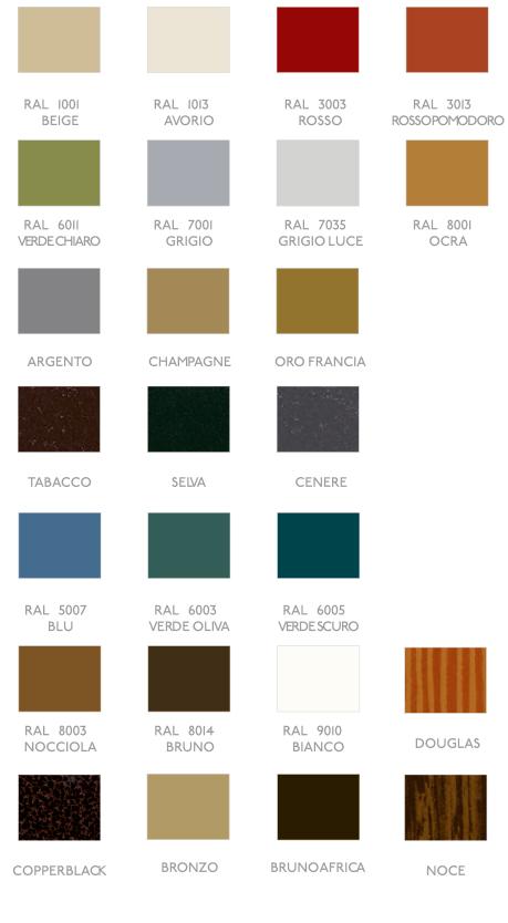 colori tapparelle in alluminio Testudo